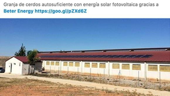 Nota de Prensa: Sistema híbrido con fotovoltaica y baterías para convertir en autosuficiente a granja de cerdos