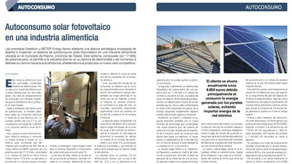 Nota de Prensa: Autoconsumo solar fotovoltaico en una industria alimenticia