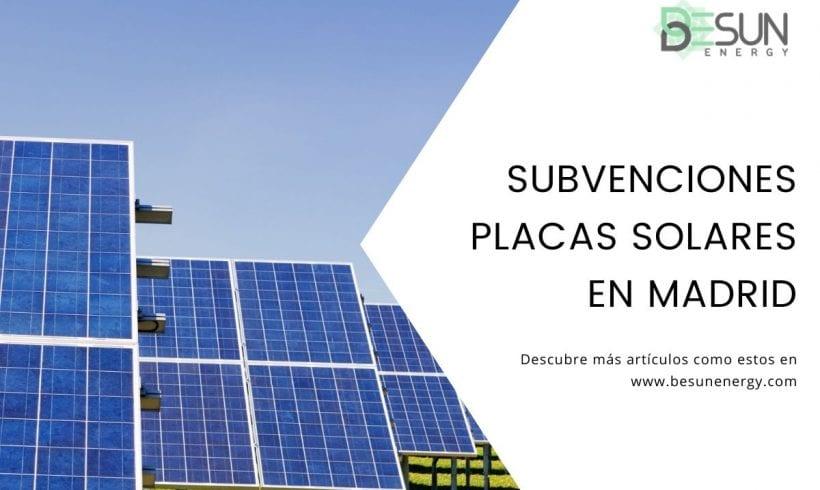 Subvenciones Placas Solares en Madrid